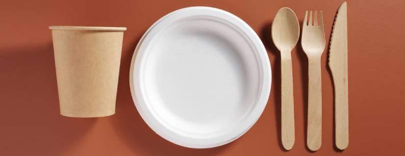 Posate biodegradabili come alternativa alla plastica
