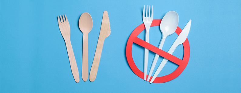 stoviglie di plastica bandite a favore di alternative ecologiche
