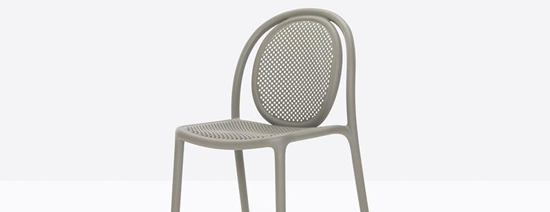 Sedia Pedrali in recycled grey