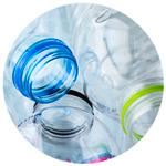 bottigliette di pet plastica
